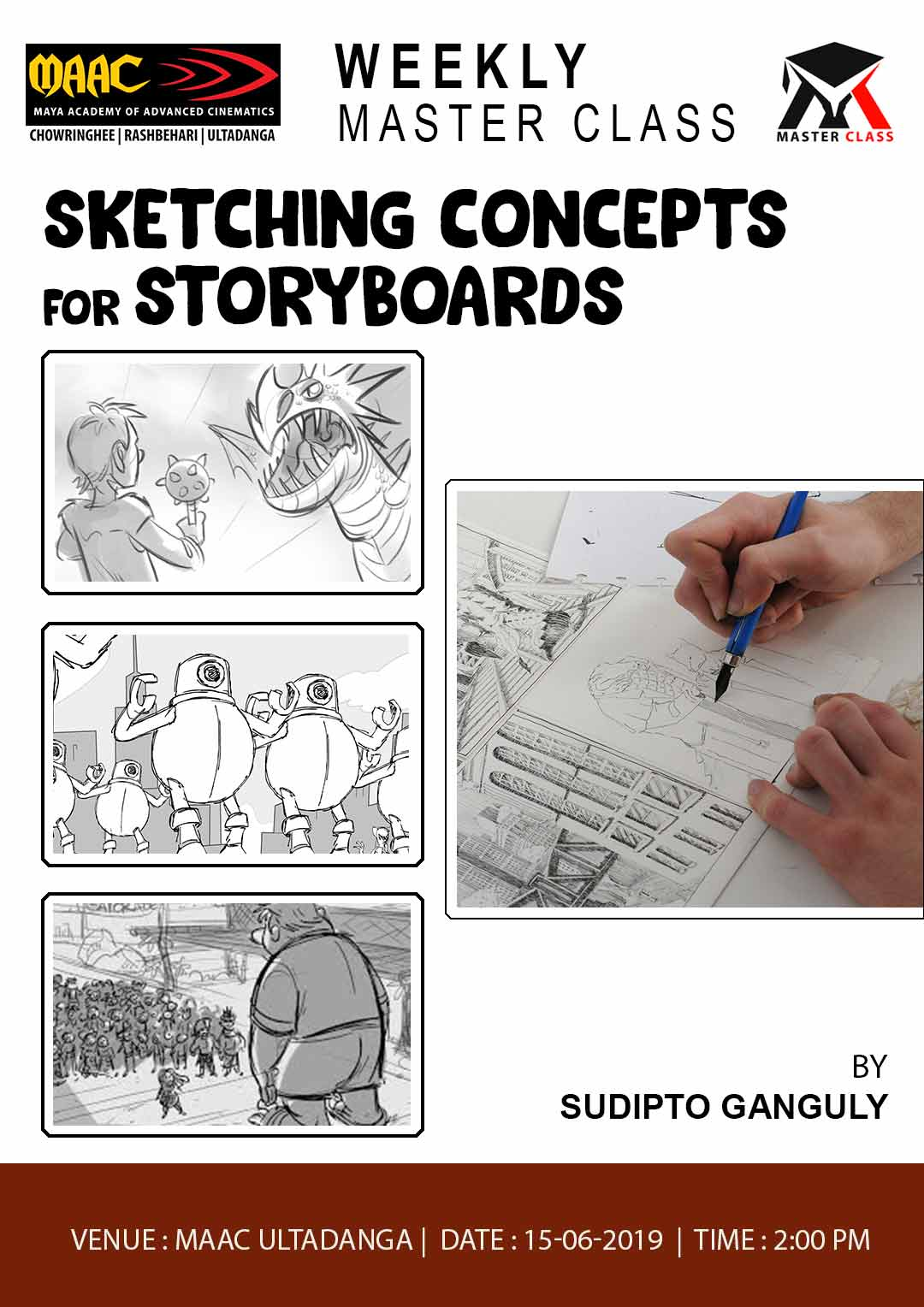 Weekly Master Class on Sketching Concepts for Story Boards