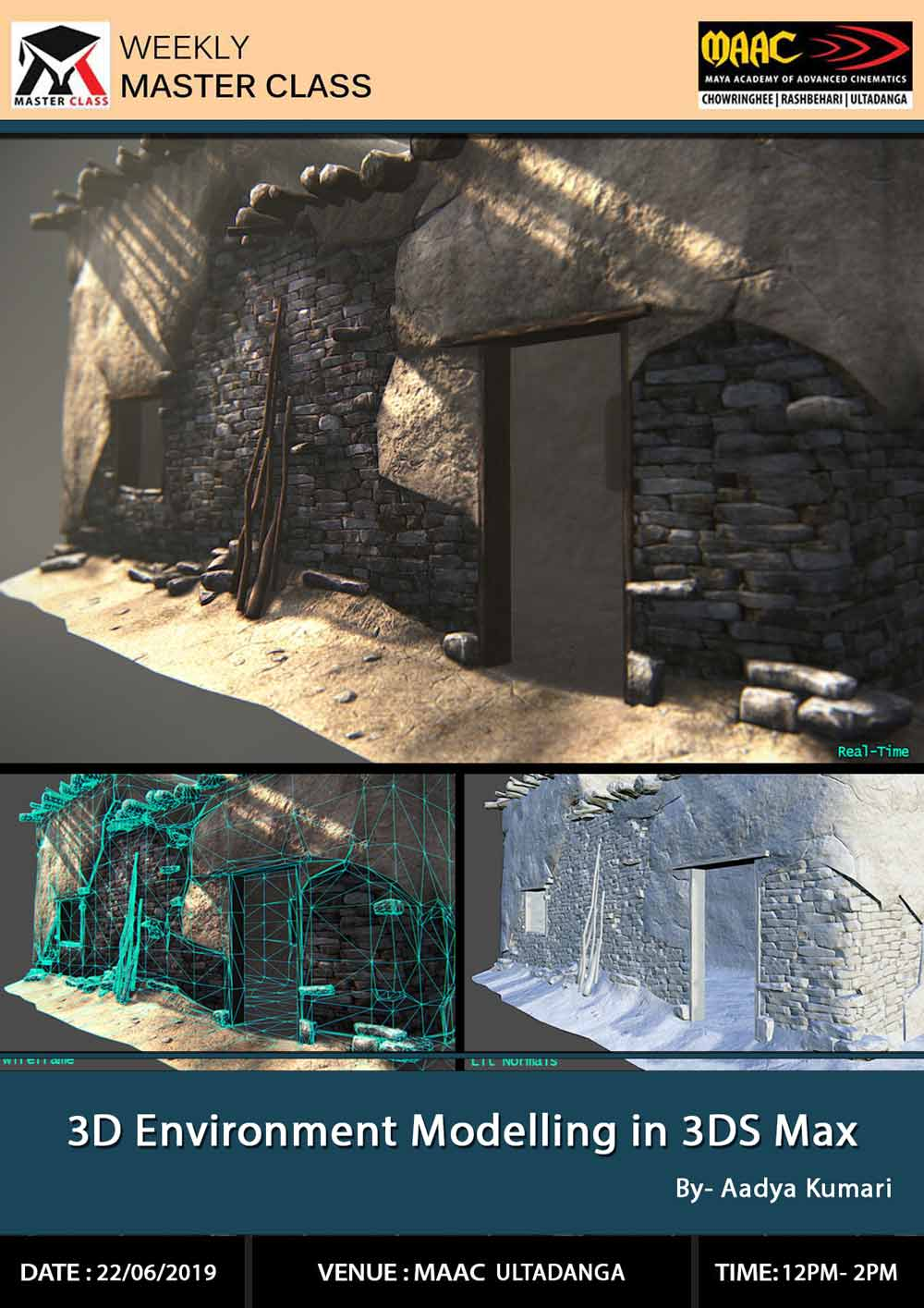Weekly Master Class on 3D Environment Modelling in 3Ds Max