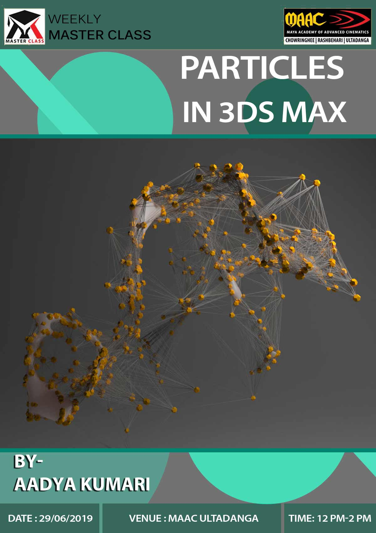 Weekly Master Class on Particles in 3Ds Max