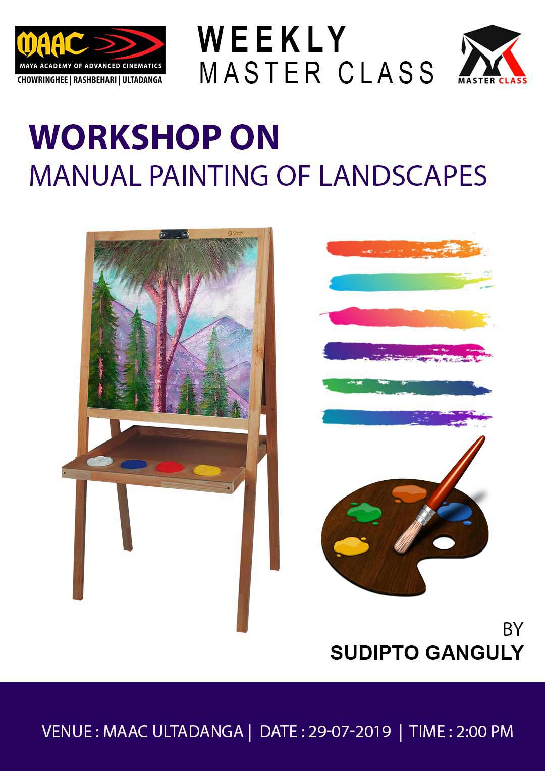 Weekly Master Class on Manual Painting of Landscapes