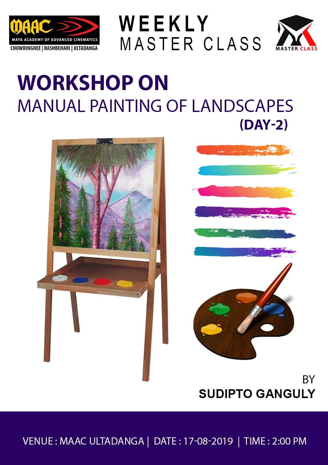 Weekly Master Class on Manual Painting of Landscapes Day 2