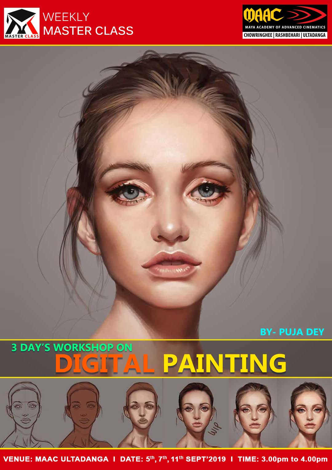 Weekly Master Class on 3 Days Workshop on Digital Painting