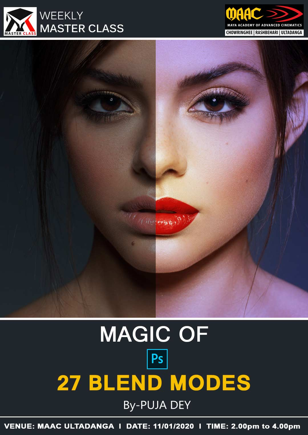 Weekly Master Class on Magic Of Photoshop Blend Modes