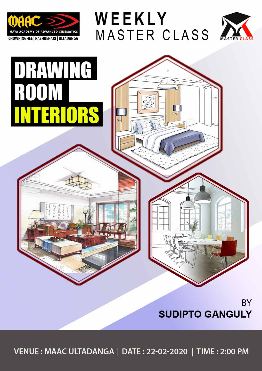 Weekly Master Class on Drawing Room Interior
