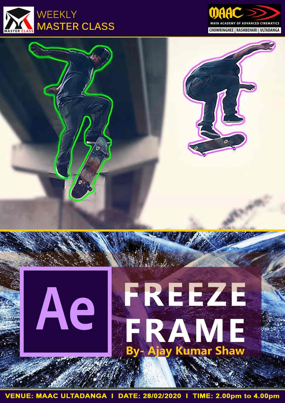 Weekly Master Class on Freeze Frame in After Effect