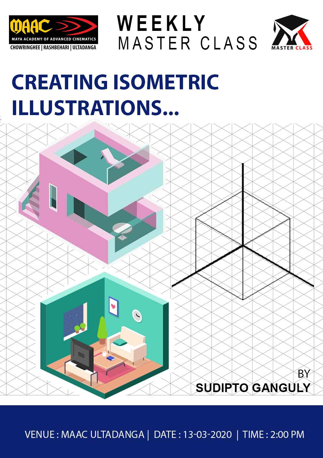 Weekly Master Class on Creating Isometric Illustrations