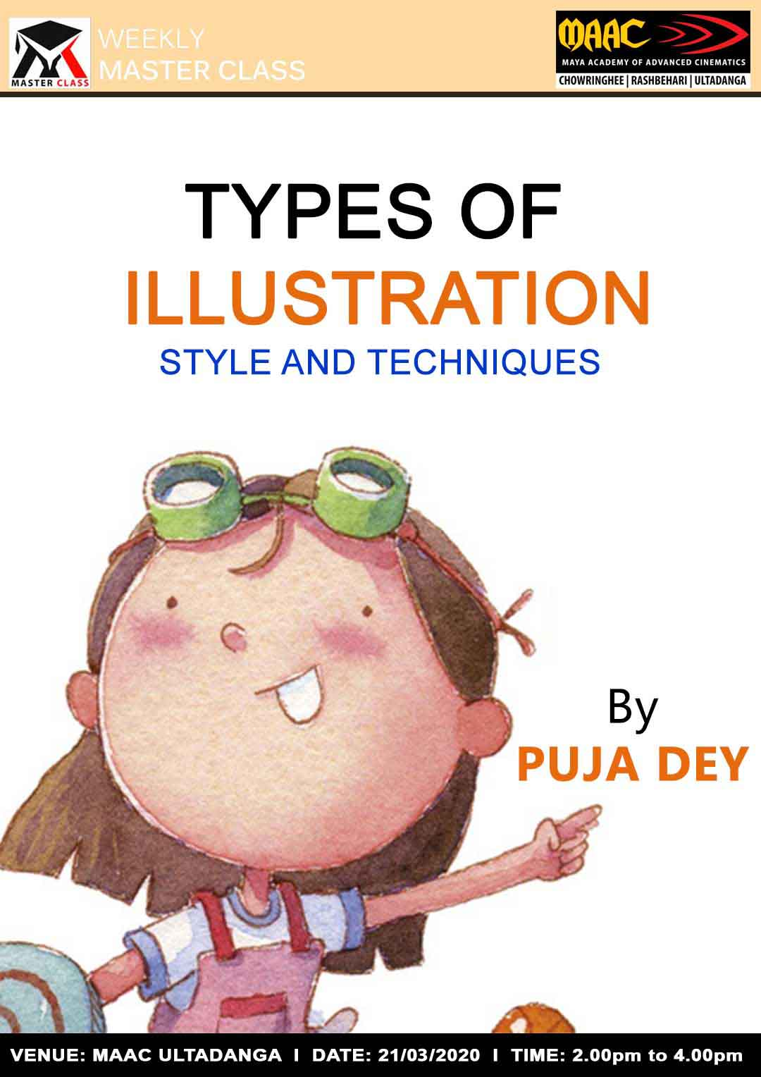 Weekly Master Class on Types Of Illustration