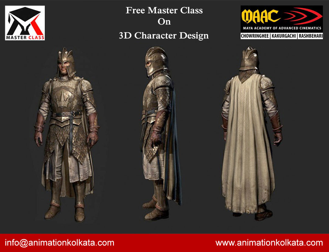 Free Master Class on 3D Character Design
