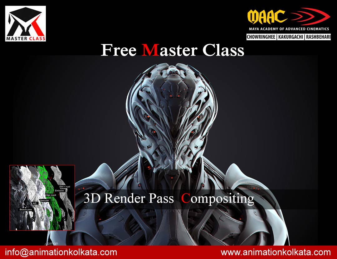 Free Master Class on 3D Render Pass Compositing