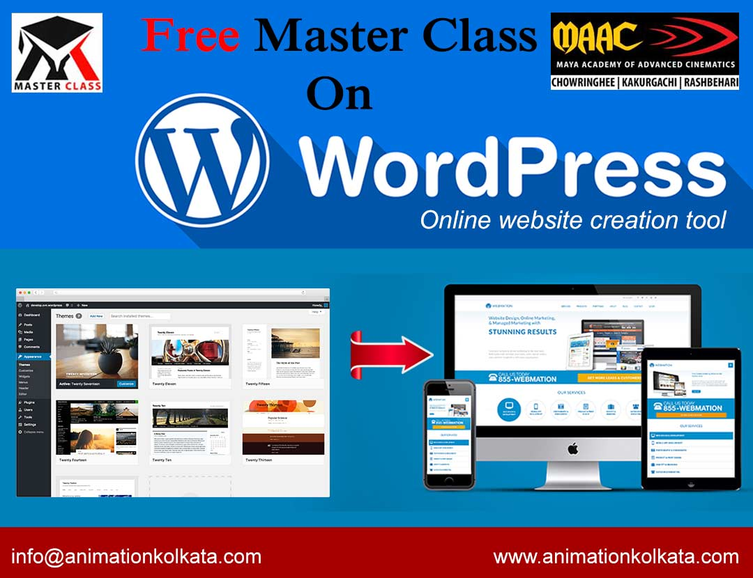 Free Master Class on Word Press- Online Website Creation Tool