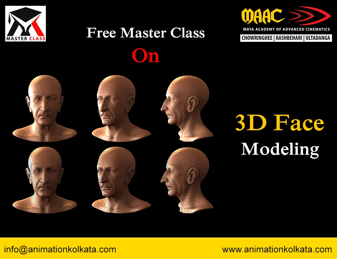 Free Master Class on 3D Face Modeling