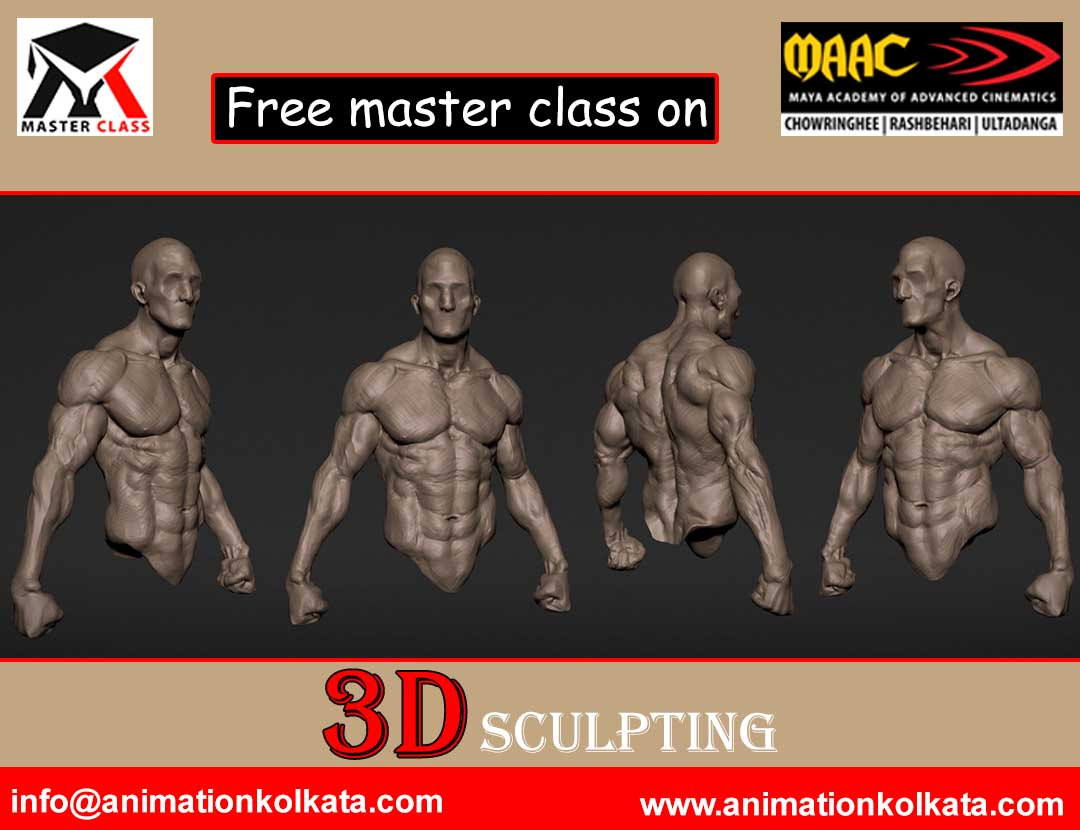 Free Master Class for External Students on 3D Sculpting @MAAC Kolkata