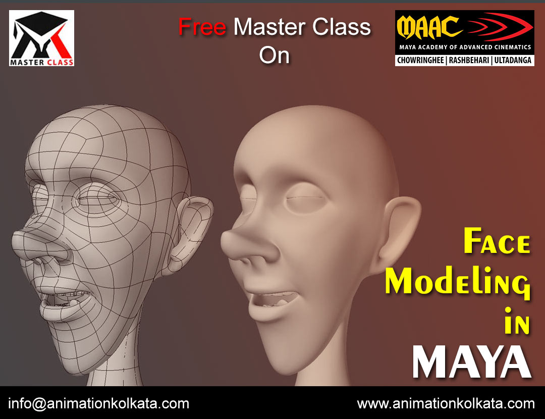 Free Master Class on Face Modelign in Maya